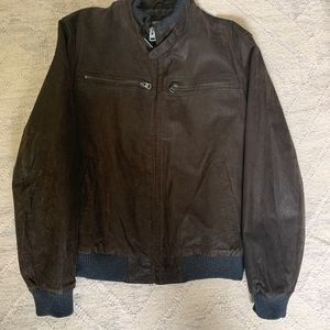 NWOT LEVI'S Brown Suede Leather Bomber SZ L